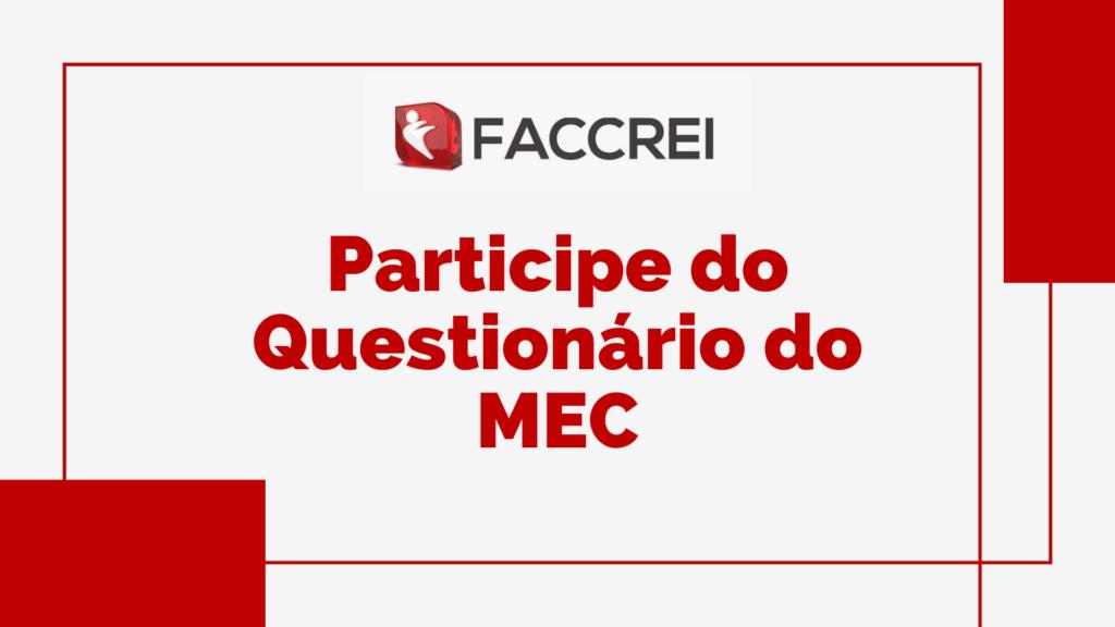 Participe do Questionário do MEC