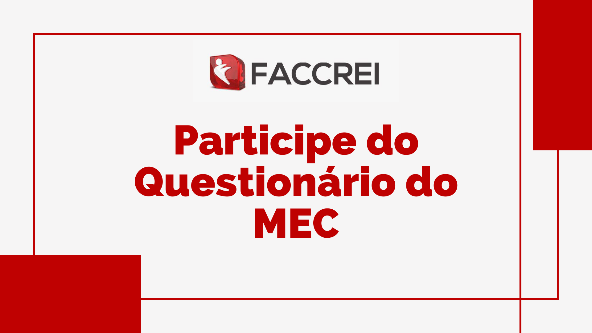 Participe do Questionário do MEC