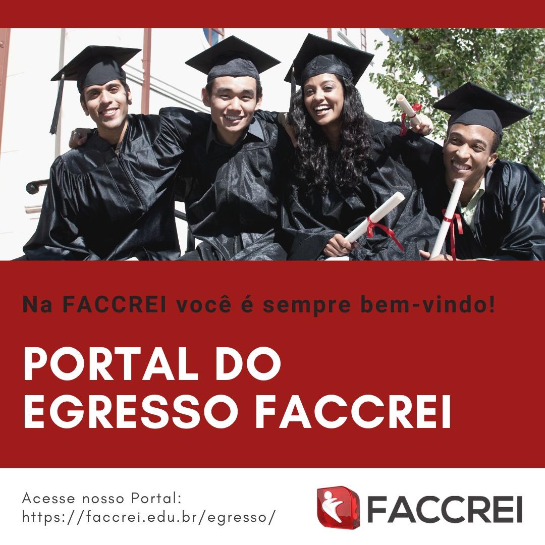 Conheça o Portal dos estudantes egressos da FACCREI